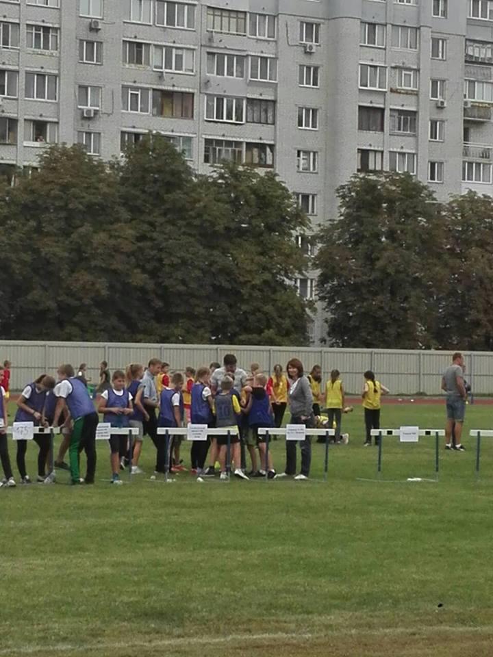 Змагання Чемпіонату Шевченківського району серед закладів загальної середньої освіти за програмою «Дитяча легка атлетика  IAAF»